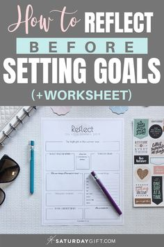 Reflect on your summer worksheet. Reflect before setting goals for the fall {+free worksheet} | Pretty printable | Planner sheet | Goal Planning | Reflect my year | Reflect on life | Achieve your goals | Self Development | Personal Development | Organization | Planning | SaturdayGift | Saturday gift #SaturdayGift #goalsetting #reflection #personaldevelopment #worksheet #freeprintables