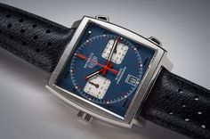 Tag Heuer's Monaco Calibre 11 Edition Steve McQueen is as unique as its predecessors : Luxurylaunches Fancy Clock, Tag Heuer Monaco, Bell Ross, Steve Mcqueen, Breitling, Luxury Watches, Cool Watches, Chronograph, Tags