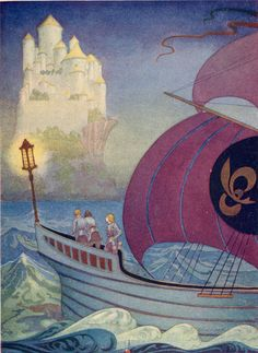 "aubade:    Thomas Mackenzie's ""A Castle was in Sight, Built Close by the Sea"", from King Arthur and His Knights, ~1920."