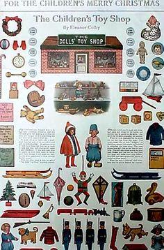 Antique Paper Dolls 1912 Children's Toy Shop
