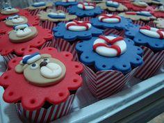 Detalhe: Cupcakes Ursinho Marinheiro