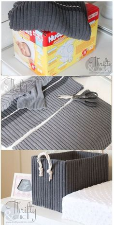 Easy Weekend DIY Projects For Home Decoration - DIY Storage Boxes From Old Sweaters and Boxes. You are in the right place about home diy ideen Here - Home Crafts, Diy Home Decor, Diy And Crafts, Diy House Projects, Diy Projects To Try, Weekend Projects, Backyard Projects, Backyard Ideas, Project Ideas