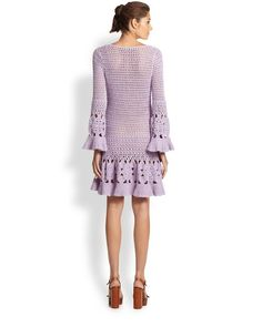 Outstanding Crochet: #Crochet Dress from Michael Kors.