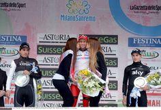 The 2014 Milan San Remo podium