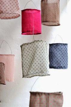Pinterest DIY: Lampionnen van stof