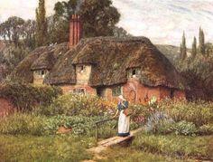Old Farm Near Donton ~ Helen Allingham ~ (English: 1848-1926)
