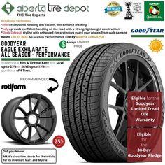Goodyear EAGLE EXHILARATE All Season Performance Tire 265/35ZR19 XL 98Y Rotiform Wheels Goodyear Eagle, Service Map, Performance Tyres, Wheels, Seasons, Seasons Of The Year