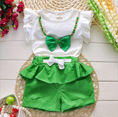 2016 New Hot Sale Girl Clothing Set Top and Pants For Baby Girl Summer Wear Children Clothing 2 Pcs With Belt Baby Clothes Little Girl Fashion, Little Girl Dresses, Kids Fashion, Cheap Girls Clothes, Girl Outfits, Cute Outfits, Girls Winter Coats, Kids Suits, Girl Sleeves