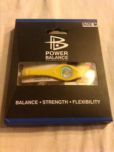 power balance talla m amarillo pulsera deporte balance