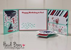 Stylin' Stampin' Squad Blog Hop - new catalog inspiration (Heidi Boos, Stuck on Stampin), Sea Street gift card holder
