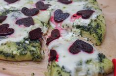 I know, it's kinda cheezy. Well, it's pizza…which is always cheesy. But also because there are heart-shaped beets all over it. This Valentine's Day Pizza with kale pesto is a fun holiday meal to keep your love going all night long.