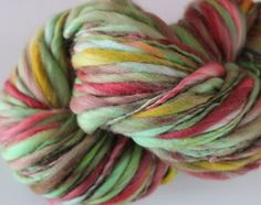 Handspun Thick and Thin 'Blushing Clovers' by HookeraholicCrochet