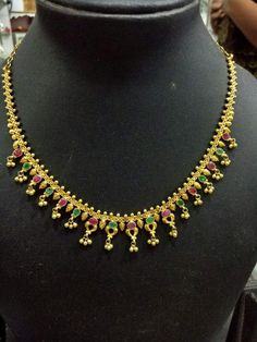 Ruby Necklace Designs, Jewelry Design Earrings, Gold Jewellery, Gold Necklace Simple, Gold Jewelry Simple, Gold Bangles, Anklet, Chains, Blouse