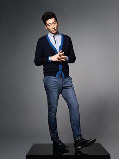 Cashmere cardigan with contrast trim