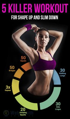 5 killer workouts for shape and slim down. : #ab_workouts