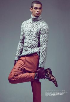 Eryck Laframboise shot by Julien Cozzolino, styled by Paul-Arthur Jean-Marie. Fashizblack Magazine September/October 2012.