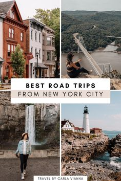 Anyone else dreaming of the perfect fall road trip? Here are 10 road trips from NYC that would be perfect for this fall (excluding Montreal, depending on whether or not the Canadian borders open)! From a lakeside weekend getaway in the Adirondack Mountains to a visit to a charming small town along the Hudson River, here are the top road trips to take from NYC. | NYC Road Trips | Road Trip Ideas From NYC | New York Road Trips | Road Trips From New York | Best Road Trip Upstate New York New York City Travel, Best Sunset, Weekend Getaways, Cool Places To Visit, Travel Usa, Adventure Travel, Travel Inspiration, Road Trip, Around The Worlds