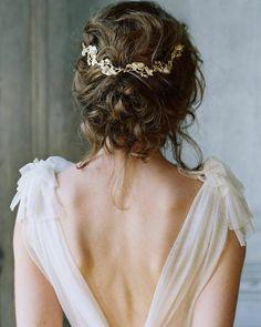 accessoire pour cheveux de mariée et couronne avec tresse pour cheveux mi-longs