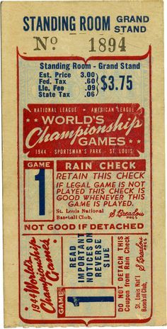 baseball ticket image - Google Search