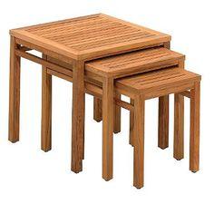 Teak Nesting Side Tables
