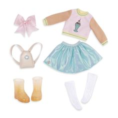 """Glitter Girls by Battat 14/"""" Deluxe Doll Outfit with... Roller Skating Fun"""