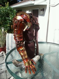 Japanese Twist Steampunk Arm by ~Skinz-N-Hydez on deviantART. --If I ever lose my arm in a catastrophic farm accident, I'm SO replacing it with this.