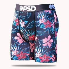Details PSD introduces the Floral Past Time men's boxer brief from our Men's Summer collection. Features a tropical floral pattern with black waistband and pouch binding. Ethika Boxers, Girl Boxers, Men's Boxer Briefs, Beast Mode, Famous Stars And Straps, Trendy Hoodies, Summer Set, Dapper Men, Mens Clothing Styles