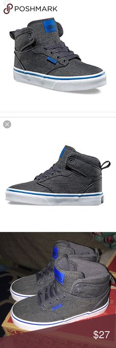 Nib Atwood hi Vans This is a new pair of boys AtWood high gray and blue 4d5d7ec4d