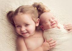 newborn and sibling