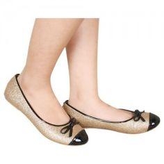 Sepatu Flat Pita Emas SKU Muthia 54100 Size 36-40 195000 heels 0 cm flats