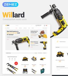 Explore a professional Willard theme, which perfectly fits the eCommerce website. You will create a stylish, modern construction tools store using this theme. Hotel Website Templates, Niche Design, Tool Store, Construction Tools, Tools Hardware, Web Themes, Website Design Inspiration, Ecommerce, Hospital Website