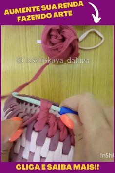 Crochet Bag Tutorials, Easy Crochet Stitches, Crochet Stitches For Beginners, Crochet Purse Patterns, Crochet Basket Pattern, Crochet Instructions, Crochet Motif, Crochet Crafts, Crochet Projects