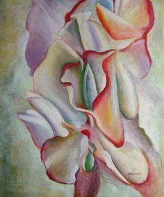 Georgia O'Keeffe. Pink Sweet Peas