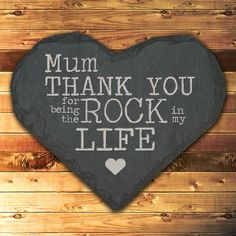 Personalised Thank You Mum Slate Heart Keepsake
