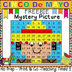 Cinco De Mayo Freebie Mystery Picture - Hundreds Chart Fun - Kiddos will love this Cinco De Mayo activity great for number recognition reinforcement!!