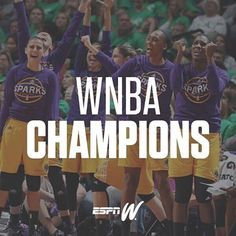 SPARKS!  Los Angeles defeats Minnesota 77-76 to win its first WNBA title since 2002.