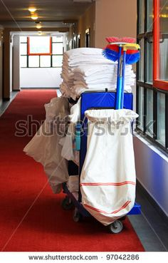 Cleaning Cart, Hotel Cleaning, Hotel Corridor, Hotel Staff, Janitorial, Baby Strollers, Stock Photos, Children, Scenery