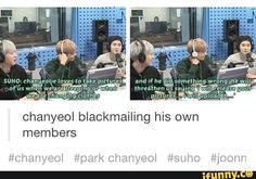 XD  Evil Channie!   { #Chanyeol #ParkChanyeol #EXO #EXOK #EXOL #Exotic #SMEntertainment #Kpop #KpopFunny #KpopMeme } ©iFunny