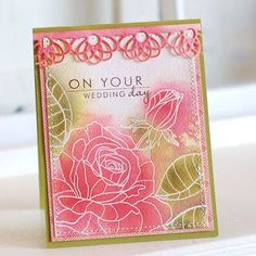Year Of Flowers:Rose Wedding Card by Betsy Veldman for Papertrey Ink (April 2012)