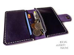 Leather wallet - Men Wallet - Women Wallet - Minimal leather wallet - Card…