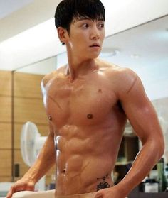 Ji Chang Wook in The K2. Ahahaha hands down the best shower scene ever in the history of all Korean drama shower scenes. I still can't! Slaying (pun hehe) in so many ways on this show uri Wookie!