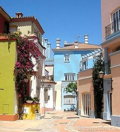 A lovely street at Fuerte City in Andalusia Spain South of Spain,
