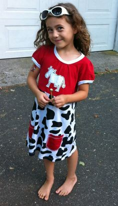 Avie in Cow Dress Narrow