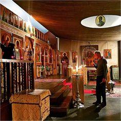 Avant la divine liturgie de saint Jean Chrysostome.