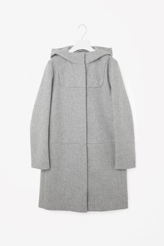 COS image 5 of Wool duffle coat in Grey