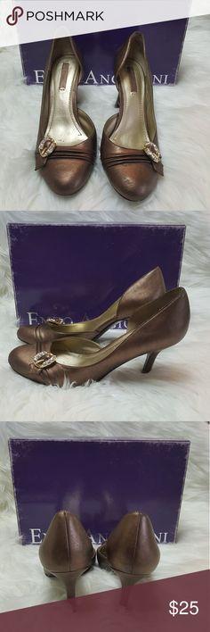 ENZO ANGIOLINI bronze buckle rhinestone heel ENZO ANGIOLINI bronze buckle rhinestone heel Enzo Angiolini Shoes Heels