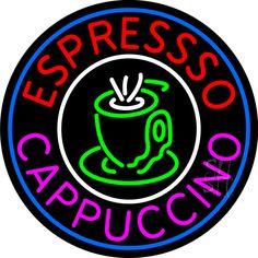 Espresso Cappuccino Cup Neon Sign