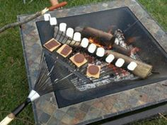 Turns out rakes also double as smore-makers