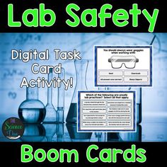This interactive deck will challenge your students to learn and review the basics of Science Lab Safety. This digital resource is hosted on Boom Learning™️. Boom Cards™️ require absolutely no printing, laminating, cutting, or grading. It's all done for you!