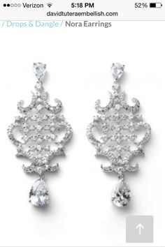 David Tutera chandelier earrings. These will make a statement!
